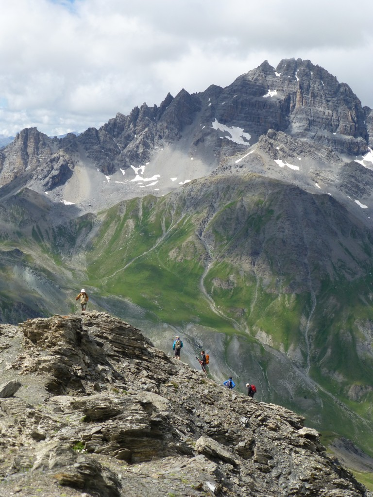 Pic Lombard, dans le fond le pic de Rochebrune